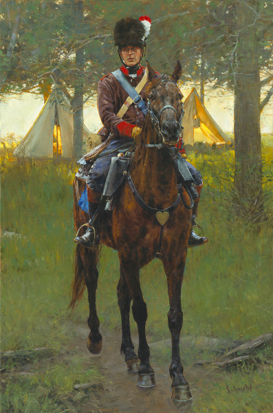 Patrolling The Camp Art for Sale