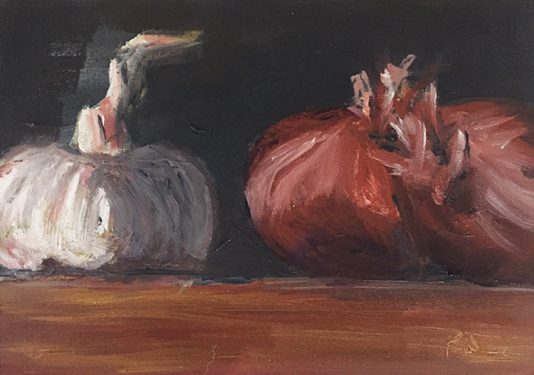 Garlic and Shallots painting by Paul William | Fine art for sale