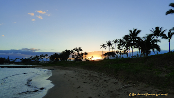 Hey Wailiku!  We enjoyed Hangin out in Wailuku close to the water - Sunrise