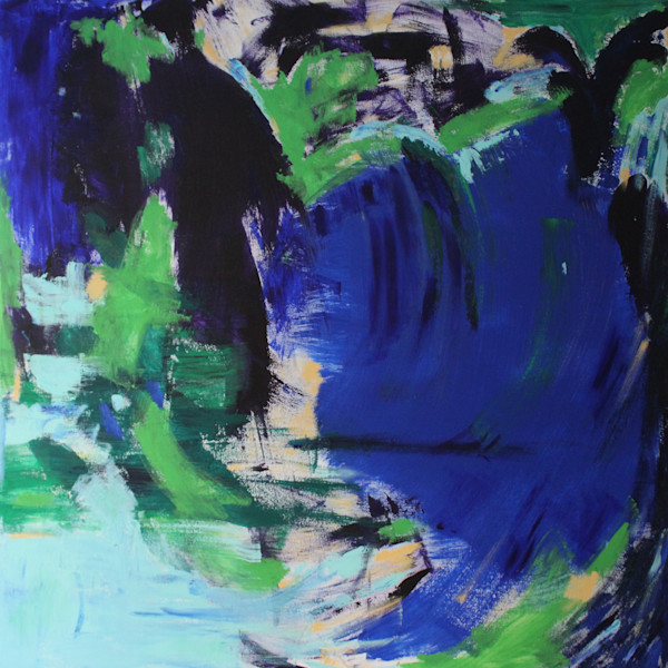 Cool Colored  Abstract Art - Original Paintings and Prints by Lesley Koenig Fine Art.