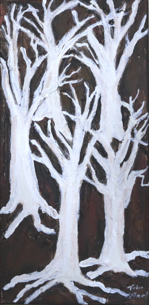 White Tree Silhouette  4, Art Print, Fine Art and Paintings for Sale by Teena Stewart of Serendipitini Studio