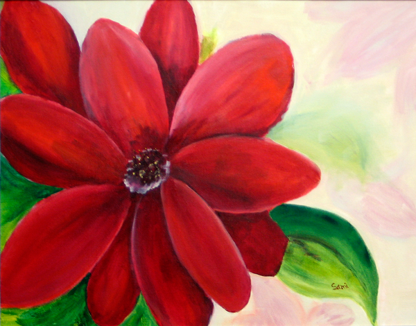 Joy -red flower Art for Sale