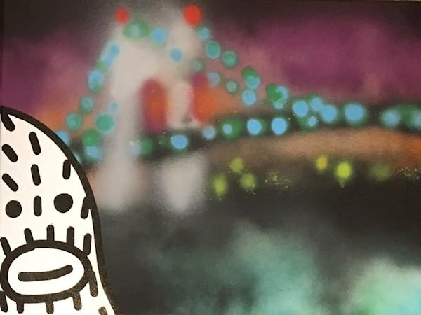 Frank Ape Original Paintings on Wet Paint NYC