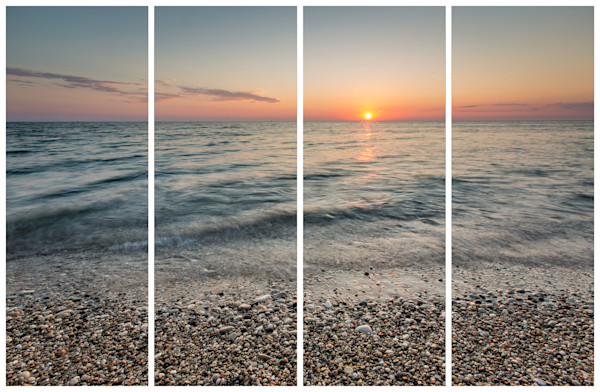 Point Betsie Beach at Sunset - Quadtych