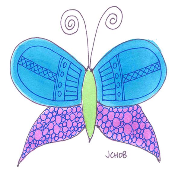 Butterfly In Blue Art For Sale