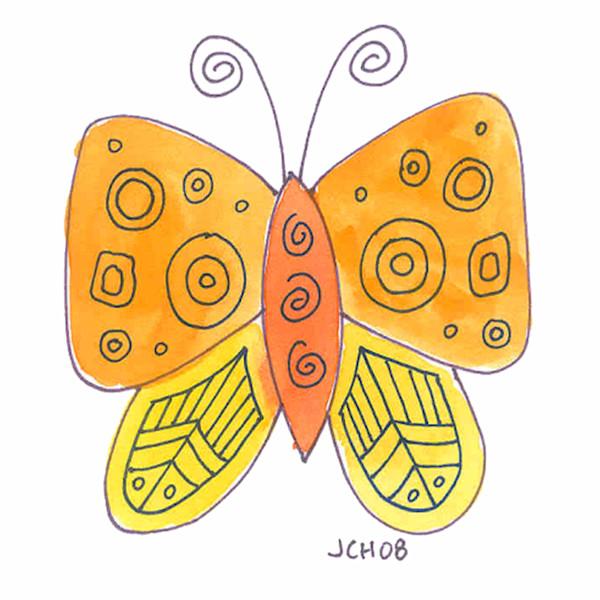Butterfly In Orange Art For Sale