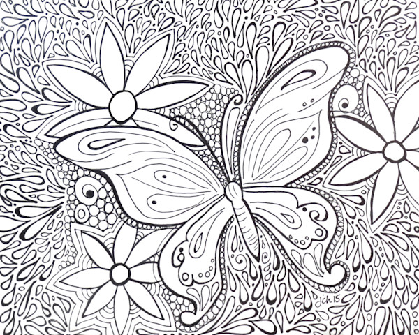 Butterfly Color It Art For Sale