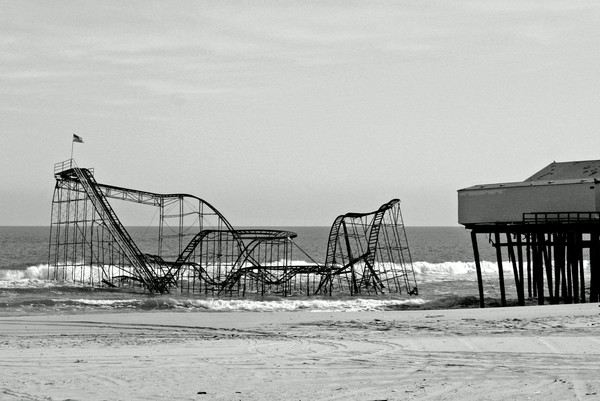 Pt. Pleasant beach with rollercoaster