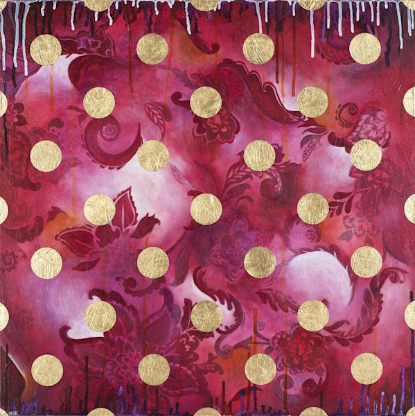Dots Confection, a fine art original painting by Heather Robinson