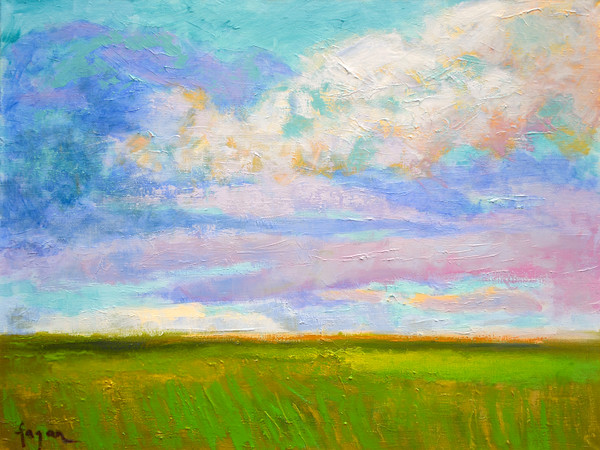 Beautiful Inspiring Cloud Painting Art Print, April Morning by Dorothy Fagan