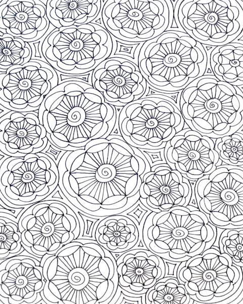 Flower Circles Color It Art For Sale