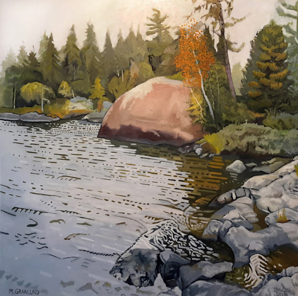 Granite Face landscape painting by Mark Granlund