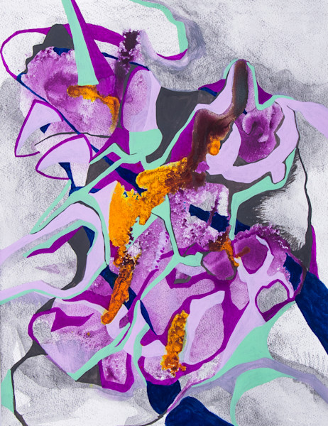 Violet Figurative Abstract Art and Paintings for Sale