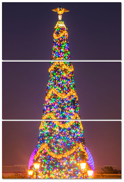 Christmas Tree at Epcot - Disney Panel Art | William Drew