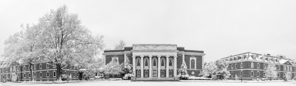 Lilly Library in the Snow
