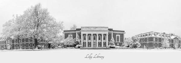 Lilly Library in the Snow with Text