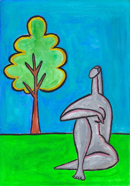 The Tree Oil Painting on Paper by Paul Zepeda Available on Wet Paint NYC