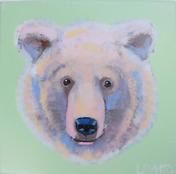 "MIDI ""JERRY"" the Bear on Light Green 6 x 6"