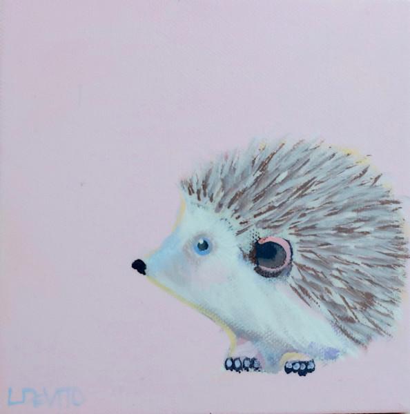 """MIDI Hedgehog """"Missy"""" on Ribbon Pink 6 x 6"""