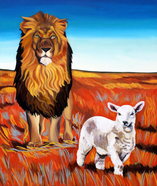 """The Lamb And The Lion"" by Daniel Zamitiz 
