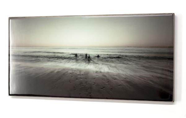 Men In Water Panoramic 12x24