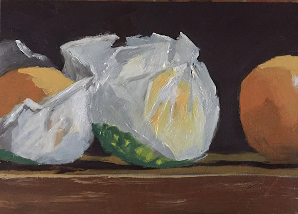 Oranges in Wrappers painting by Paul William | Fine Art for Sale