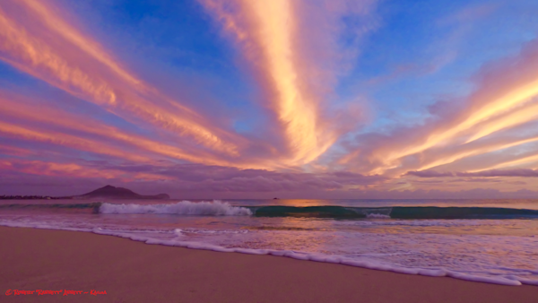 one of the most exciting mornings I ever had on the beach. The colors were as you can see - incredible. Robert Abbett Art!