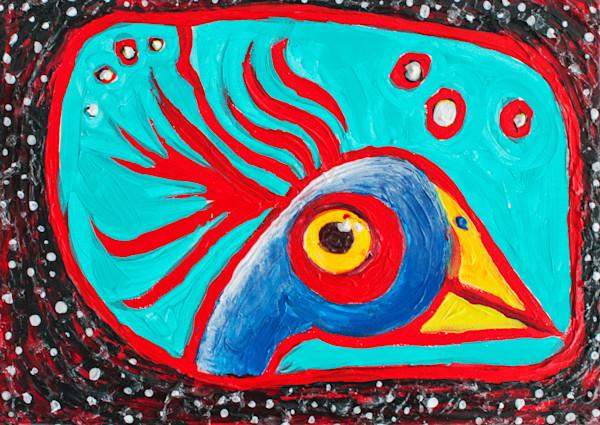 """Funny Bird - Original - 5"""" x 7"""""""