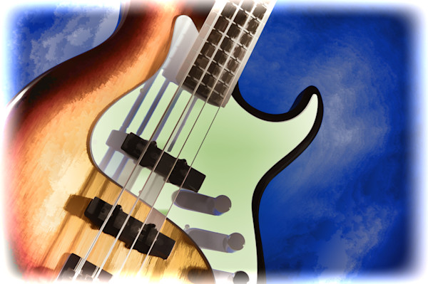 Guitar Wall Art Color Photograph as Prints, Canvas, Metal
