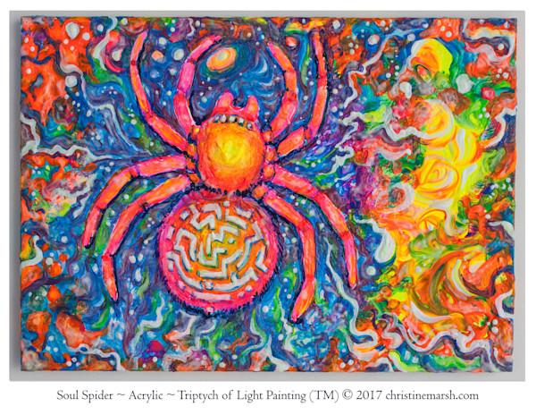Spirit Spider - Triptych of Light (TM) Painting