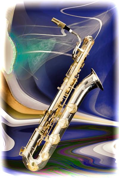Music Art Baritone Saxophone Painting Print 3458.02