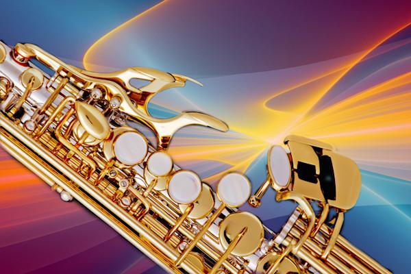 Modern Soprano Saxophone Image in Color 3344.02