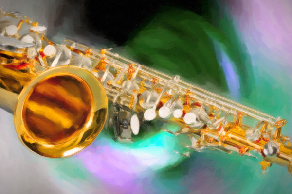 Sax Swirl Music Wall Art Painting in  3249.03