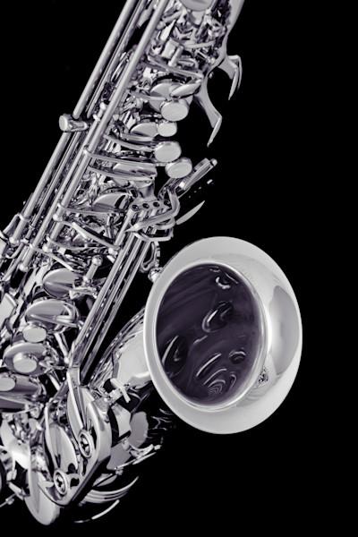 Saxophone Metal Art on Black 3266.01