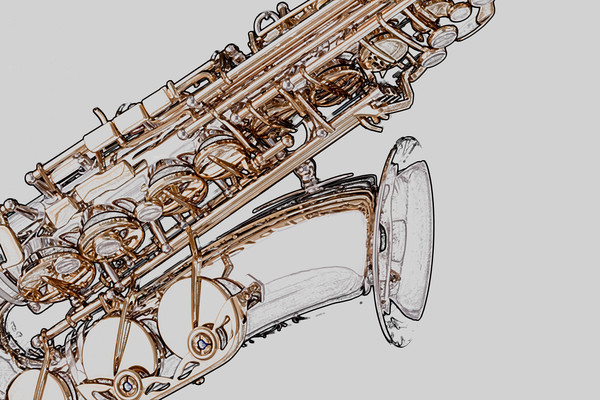 Saxophone Drawing Art Prints 4283h