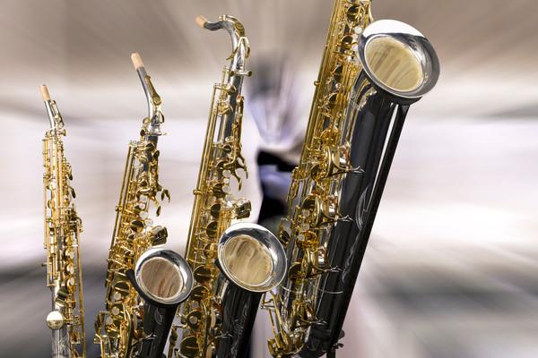 Saxophones On Set Metal Art 3460.02