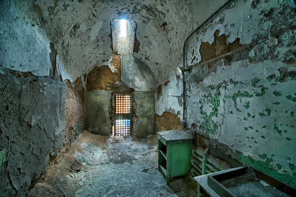 prison cells, photographs of penitentiaries, state prisons, art photographs of prison cells,