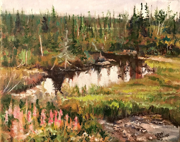 Northern Bog by Cathy Groulx | SavvyArt Market original oil painting