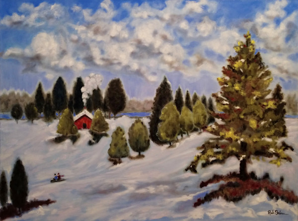 Winter Wonderland Original | Fine Art Oil Painting by Rick Osborn
