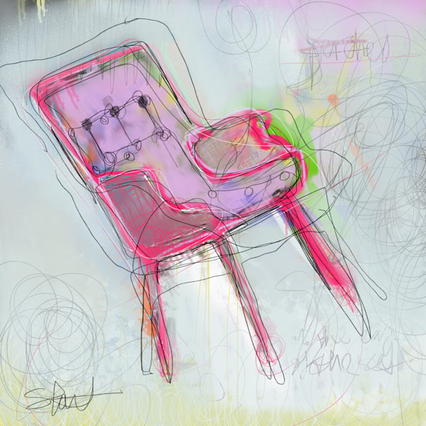 Fine Art Print of a balancing chair