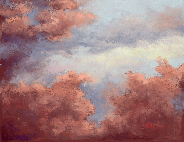 Heavenly Skies print by Dianne Saron.