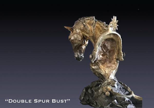 Double Spur Bronze Bust