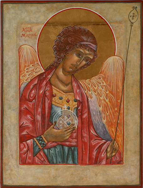 Archangel Michael print by Andrea Bowes.