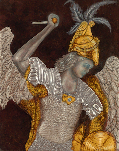 The defender, Archangel Michael print by Andrea Bowes.