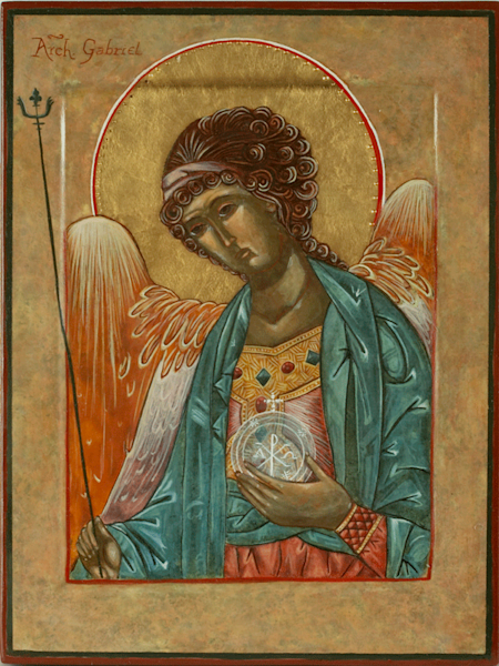 Archangel Gabriel print by Andrea Bowes.