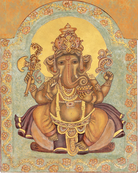 Ganesh print by Andrea Bowes.