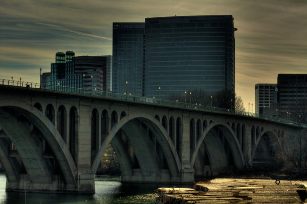 A Fine Art Photograph of A Key Bridge View by Michael Pucciarelli