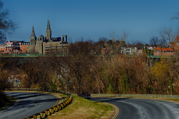 A Fine Art Photograph of Georgetown From Above by Michael Pucciarelli