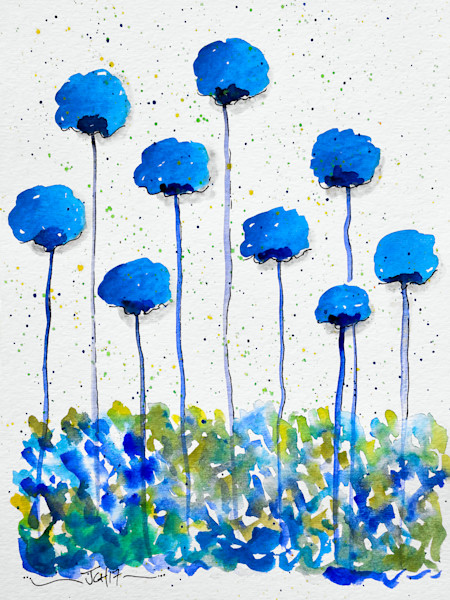 Flower Paintings and Drawings by Groovy Gal Designs