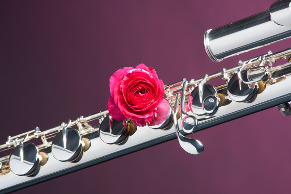 Base Flute Red Rose Wall Art 034h